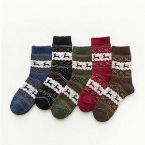 Decoração Quente Tubo Oriente confortável Cervos do Natal Meias Thicke Socks impressão Presente Autumn alta Festival Qualidade 2 1mq H1