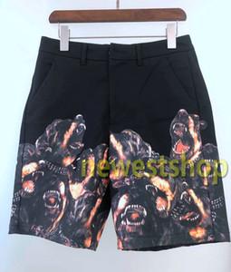 2020 жаркое лето роскошные шорты мужские ротвейлер печати брюки мода пляжные шорты новый дизайнер брюки мужчины женские свободные звезды печати брюки