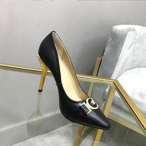 2020 New Spring Autumn Women Pumps High Thin Heel Pointed Toe Slip-On Shallow Sexy Elegant Crystal Women Shoes Black and white High Heels
