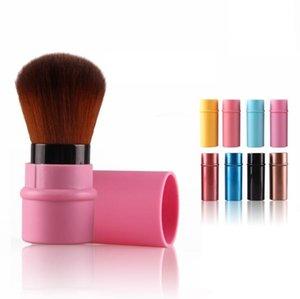 8 색 메이크업 블러쉬 브러쉬 휴대용 메이크업 도구 프로 철회 화장품 브러쉬 파우더 화장품 얼굴에 파워 브러쉬 가부키 브러쉬