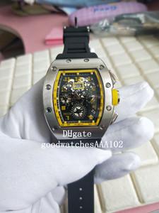 최신 버전 손목 시계 RM (11 개) 기계 투명 블랙 다이얼 고무 스트랩 밴드 높은 품질 자동 남성 시계 시계
