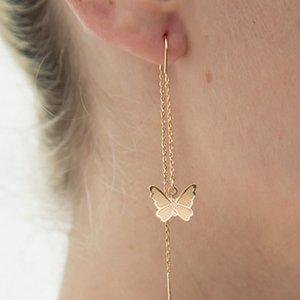 1 Pair Romantic Creative Butterfly Long Tassel Earrings Butterfly Temperament Long Earrings Jewelry Gift Accessories