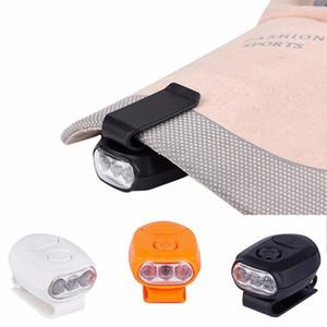 1Pcs Outdoor Lamp 3LED Casquette Baseball Cap Lamp Hat Clip Light Headlight Headlamp For Camping Fishing Hiking Tools