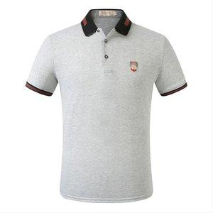 2019 mens designer polo shirts GG Comfortable breathable sports men Polo shirt and embroidery 100% cotton Polo shirts for men