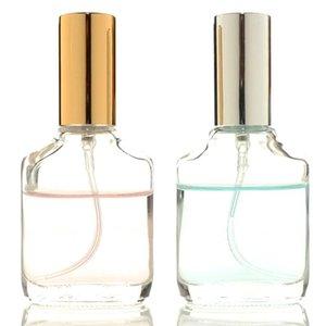 Alta qualità 15ml trasparente bottiglia quadrata di vetro Belle spruzzatore della foschia Flaconcini Mini Spray per profumo Aromaterapia Idratante Liquid
