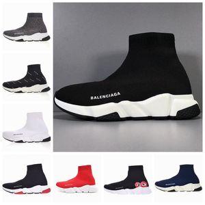 Paris Velocità Moda Scarpe Casual Uomo Donna Graffiti Nero Bianco Red Socks di lusso Scarpe Uomo donna traspirante Designer Sport Sneakers 35-46