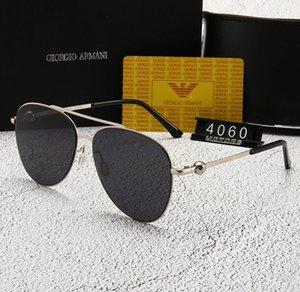 Летние мужские Металлические DesignerSunglasses Роскошные Солнцезащитные очки поляризованные Goggle Очки Стиль 8031 UV400 4 цвета Факультативный высокого качества с коробкой