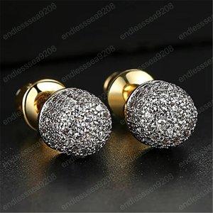 Raffreddare Uomini orecchini di Hip Hop placcati oro della CZ Il micro proiettile orecchini per gli uomini monili punk