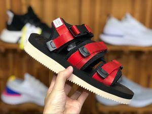 New Top Quality SUICOKE MOTO VS CAB KAW 18ss Sandals For Men Women Fashion CLOT Slide Black Red Slippers Sandal 16tt