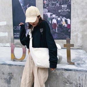 Kadınlar Çanta 2019 Yeni Moda Messenger Çanta Tuval Tie Düğümlü Mantısı Çanta Omuz harici ve asılı Kadın Çantası Öğrenci Paketi bolso mujer