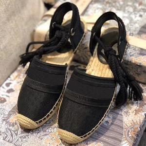 Дизайнеры Женщина Dazzle Цветы Шнуровка эспадрилья сандалия лето Удобной кустарная веревка плоская повседневная обувь с наклонным расшита
