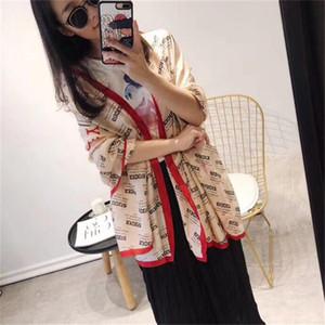 Nueva marca bufanda de seda para mujeres Diseñador de verano Clásico bufanda de seda genuina de alta calidad Sra. Alta calidad y confortables y suaves mantones