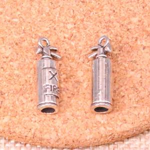 55pcs очаровывает Огнетушитель пожарным 23 * 6 * 6 мм Античный Изготовление кулон в форме, Vintage тибетский серебро, DIY Украшения ручной работы