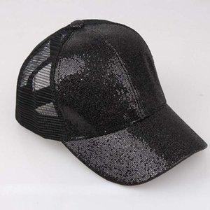 20 # Kadınlar Beyzbol şapkası Pullarda Parlak Dağınık Bun Snapback Şapka Güneş Mesh Casquette Femme Gorro Kız czapka Caps