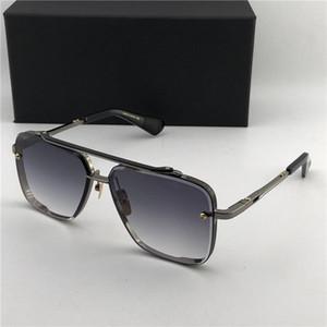 lüks -Matte Siyah 121 Kare Güneş Kahverengi Degrade Lensler Güneş Gözlükleri Erkekler Tasarımcı Güneş gözlüğü Yeni