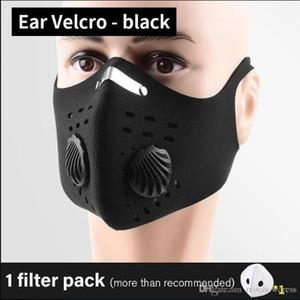 Maschere viso riutilizzabile protettiva con fliters Valori nero FILTRO A CARBONI Bocca Maschere Designer Ciclismo viso maschere FY9038