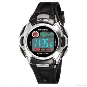 Best Luminous Fashion Men Sports LED Digital Quartz Watch With Week Alarm Function Waterproof Kid Gift School Students Wrist Watch Mix Color