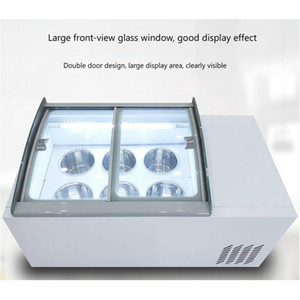 190W Desktop ice cream display cabinet commercial freezer for cold drinks shop store supermarket ice cream display cabinet