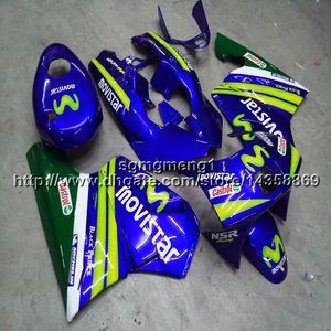 23colors+Botls blue motorcycle article For Honda NSR250 MC18 1988-1989 88 89 ABS plastic Fairing kit
