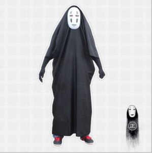 Faceless male role playing mask gloves Halloween party costume children adult thousand and thousands of neutral stage costumes role-playing