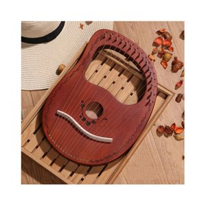 Portátil de madeira Lyre Harp 16 Cordas Notas Harp Corda Kit Instrumento Musical