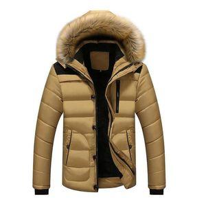 Designer Nouveau style d'hiver Vestes Manteaux Hommes parkas Casual épais Outwear à capuchon Vestes polaire chaude Pardessus Vêtements pour hommes