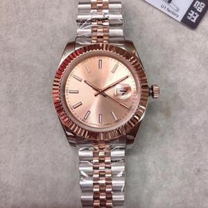 U1 lujo de fábrica de alta calidad para hombre del reloj de la fecha de la serie M126333 de oro rosa Dial reloj de oro de zafiro Top hombre de la moda de pulsera mecánicos