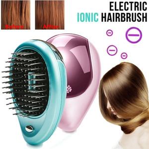 Tragbare elektrische Ionic Hairbrush Mini Haarglätter-Bürste Takeout Negative Ionen-Verwicklung Haarbürste Anti-Statik-Massage-Kamm