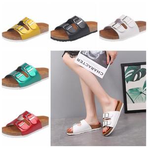 Cork Sandals Solid Flip-flops Slipper Large Size Summer Sandles Beach Antiskid Slippers Buckle Fashion Slipper Women Footwear Shoe D5682