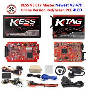 UE en ligne Red KESS V2 5,017 V2.47 maître Aucun jeton KTAG puce programmeur ecu V7.020 OBD2 tuning Tuning Kit directeur KTAG v7.020