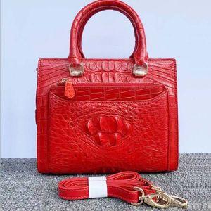 fanzunxing true crocodile leather Female women handbag goods Little bread portable Inclined shoulder bag