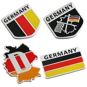 Decoración cuerpo de distintivo de la bandera del metal 3D del emblema de Alemania Alemán Deutsch etiqueta etiqueta del coche de la parrilla pegatina de ventana para el Benz VW Audi