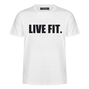 2019 mode neue brief druck fitness männer shirt sweatshirt XL Harajuku stil kurzarm T-shirt sweatshirt MC28