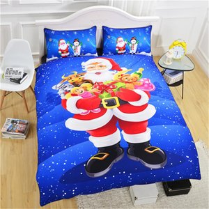 3D designs christmas pictures bedding set queen king size reactive printing good fastness cartoon designs tiger leopard linon cat seatacion