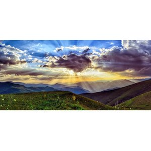 New DIY Diamond Painting Mountain Top Scenery Full Drill Diamond Embroidery Beautiful Mysterious Genting Wonders Home Decoration