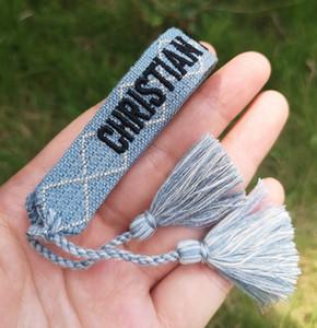 Pulseiras de algodão com Tassel o melhor presente animá-lo para o dia Amizade para o aniversário eo Natal ou Verão 2020