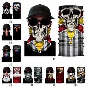 3D ciclismo motocicleta máscara da cabeça do palhaço V para a equipe de vingança esqueleto montanhismo multi-funcional cabeça mágica EEA513