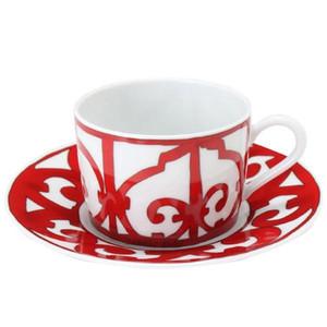 Inglaterra taza de café y platillo taza de cerámica taza de moda placa porcelana de porcelana de alta calidad para uso doméstico
