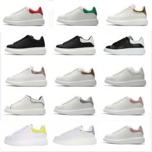 Piattaforma donne degli uomini dei pattini casuali del progettista di cuoio di lusso in pelle scamosciata piatto abito bianco scarpe sportive scarpe da tennis Velvet Heelback scarpe Big Size 36-44