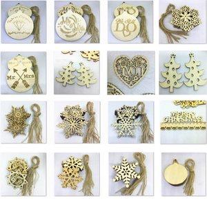 10 개 / 대 Christams 장식 나무 눈송이 조각 단어 공 나무 사랑 매달려 펜던트 장식품 스트랩 새로운 크리스마스 선물 XD21105