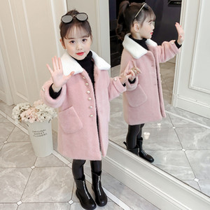 JMFFY New Coats For Girls 2019 Giacca invernale per bambina Cappotto bambina Neonato Cappotto Outwear misto lana Kids 4-15T