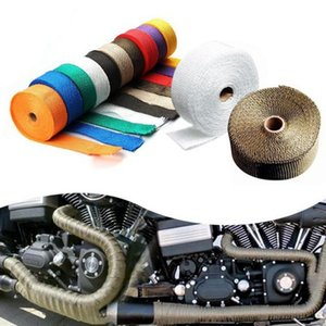 universal Exhaust tape Heat Exhaust Thermo Wrap Shield Protective Tape Fireproof Insulating Cloth Roll Kit for Motorcycle Car 5M