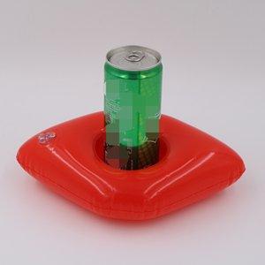 Nouveau modèle Coupes Lips gueules Porte gonflable piscine flottante sur le support tasse d'eau pour les boissons Red Coaster de haute qualité 1 5XR X