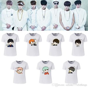 Korea band BTS Fan t shirts women Anime avatar printting casual fashion short sleeve tops cotton blend womens clothe s-xxl