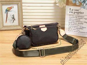 três-em-um crossbdoy sacos bolsas bolsas V M44813 removível carteira cadeia ombro alça de ombro com saco de poeira