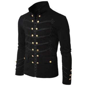 Nuevo Slim Cool Men Coat Jacket Gothic Embroider Lentejuelas Chaquetas Fashion performance Outfit Custom stage Party Coat Noble prince Venta caliente