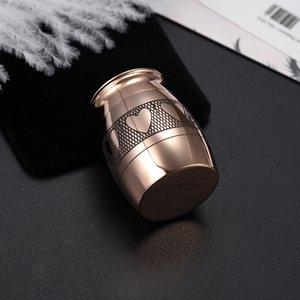 PT010 Rose cor do ouro Corações Impresso / animais cinzas humanas Titular da lembrança Funeral Urn Caixão Mini Cremação Caixão Jar