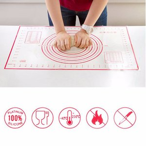 Baking Sheet Rolling Dough Pastry Cakes Bakeware Liner Silicone Heat Resistance Mat Paste Flour Table Pad Kitchen Cooking Tools