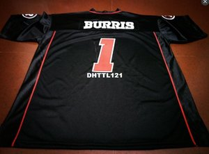 Uomini economici Ottawa Redblacks # 1 Henry Burris Black College jersey o personalizzati qualsiasi nome o numero maglia