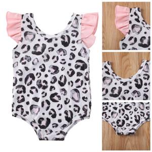 Новорожденных малышей Дети Baby Girl Leopard Купальники Купальник бикини купальный костюм